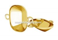 Link base, gold plated 925 silver, for Swarovski 4568 14x10mm - x1