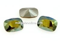 Swarovski, fancy rectangle, iridescent geen, 14x10mm - x1
