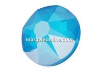 Swarovski, cabochon, SS34 hotfix, electric blue, 7mm - x4