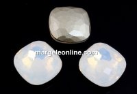 Swarovski 4483, fantasy cushion, white opal, 12mm - x1
