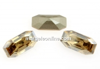 Swarovski 4595, Elongated Imperial, golden shadow, 8x4mm - x2