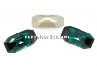 Swarovski 4595, Elongated Imperial, emerald, 16x8mm - x1