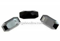 Swarovski 4595, Elongated Imperial, jet hematite, 16x8mm - x1