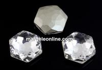 Swarovski 4683, fantasy hexagon, crystal, 10mm - x1