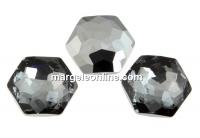 Swarovski 4683, fantasy hexagon, silver night, 12mm - x1