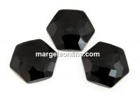 Swarovski 4683, fantasy hexagon, jet, 8mm - x2