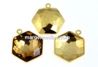 Baza pandantiv placat cu aur pt Swarovski 4683 de 14mm - x1
