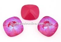 Swarovski, fancy square, Lotus Pink DeLite, 12mm - x1