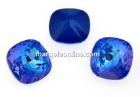 Swarovski, fancy square, Royal Blue DeLite, 12mm - x1
