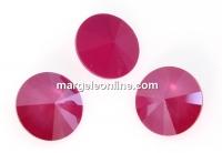 Swarovski, rivoli, peony pink, 10mm - x2