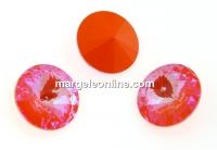 Swarovski, rivoli, Orange Glow DeLite, 12mm - x2