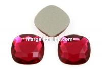 Swarovski, cabochon cushion, scarlet, 7mm - x2