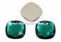 Swarovski, cabochon cushion, emerald, 10mm - x2