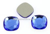 Swarovski, cabochon cushion, sapphire, 10mm - x2
