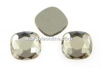 Swarovski, cabochon cushion, silver shade, 7mm - x2