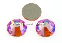 Swarovski, cabochon, rose peach shimmer, 6mm - x4
