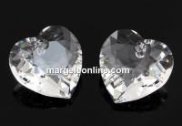 Swarovski, pandantiv inima, crystal, 8mm - x2