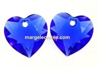 Swarovski, pandantiv inima, majestic blue, 14.5mm - x1