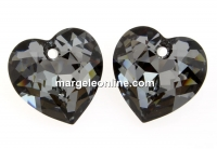 Swarovski, pandantiv inima, silver night, 10.5mm - x2