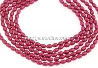 Perle Swarovski, mulberry pink, 4x3mm - x100
