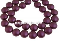 Perle Swarovski disc, elderberry pearl, 10mm - x10