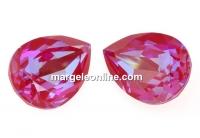 Swarovski, fancy picatura, royal red delite, 18x13mm - x1