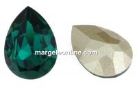 Swarovski fancy drop, emerald, 4x2.9mm - x4