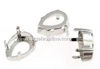 Baza link placat cu rodiu pt Swarovski 4320 de 18mm - x2