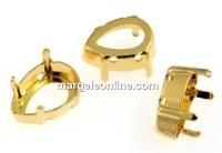Baza link placat cu aur pt Swarovski 4320 de 18mm - x2