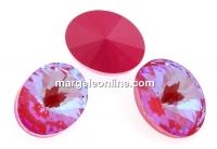 Swarovski, fancy oval, Lotus Pink DeLite, 18x13.5mm - x1