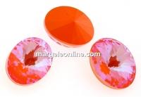 Swarovski, fancy oval, Orange Glow DeLite, 18x13.5mm - x1