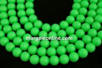 Perle Swarovski, neon green, 14mm - x2