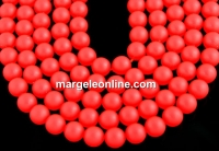 Perle Swarovski, neon red, 12mm - x2