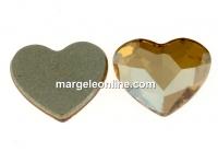 Swarovski, cabochon inima, golden shadow, 3.6mm - x4