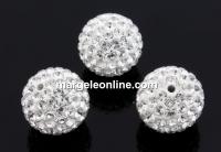 Swarovski, pave beads, crystal, 8mm - x1