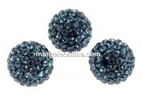 Swarovski, pave beads, montana, 8mm - x1