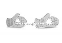 Tortite cercei manusa Craciun, argint 925 - x1per