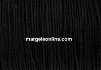 Bobina snur matase pentru bratari, negru, 0.9mm - x90m