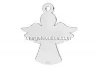 Pendant, angel, 925 silver, 15mm - x1