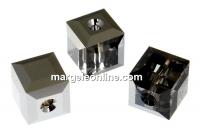 Swarovski, margele cub, silver night, 6mm - x2