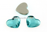 Swarovski, heart cabochon, light turquoise, 6mm - x2