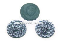 Swarovski, cabochon pave, light sapphire, 12mm - x1