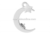 Moon pendant base, 925 silver, for 5818 pearl, 8mm - x1