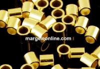 Crimp tubular, argint 925 placat cu aur, 2mm - x20buc