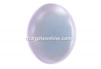 Swarovski, cabochon crystal pearl, iridescent dreamy blue, 6mm - x2