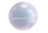 Swarovski pearls with a hole, iridescent dreamy blue, 8mm - x2