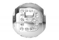 Swarovski, becharmed, litera B cu cristale, 12mm - x1