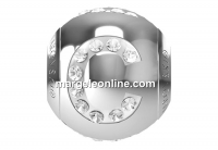 Swarovski, becharmed, litera C cu cristale, 12mm - x1