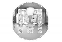 Swarovski, becharmed, litera M cu cristale, 12mm - x1