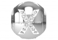 Swarovski, becharmed, letter X with crystals, 12mm - x1